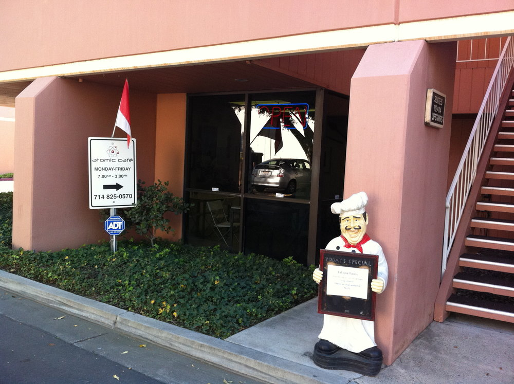 See they have a chef statue