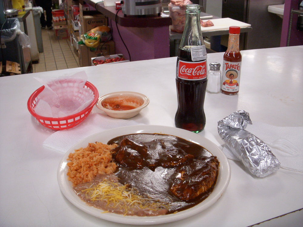 Mole and a mexican coke