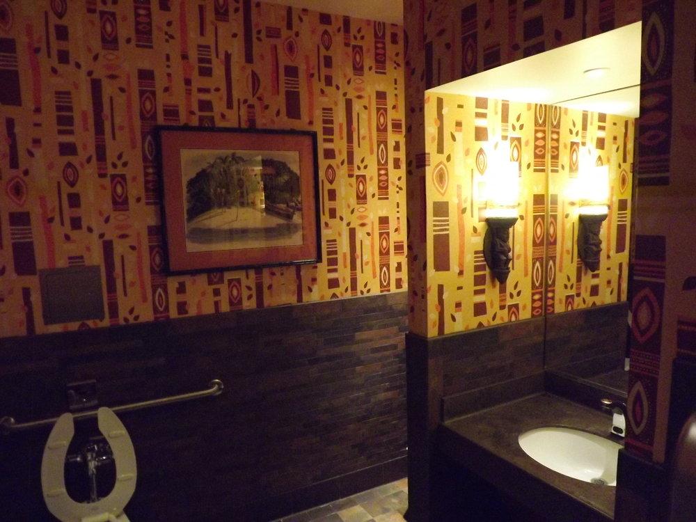 Tiki bathroom