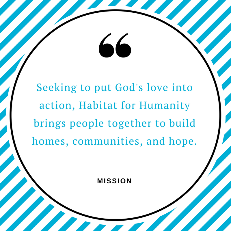 Habitat for Humanity of Denton County mission statment