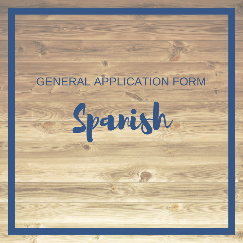 Click to download theGeneral Application form in spanish