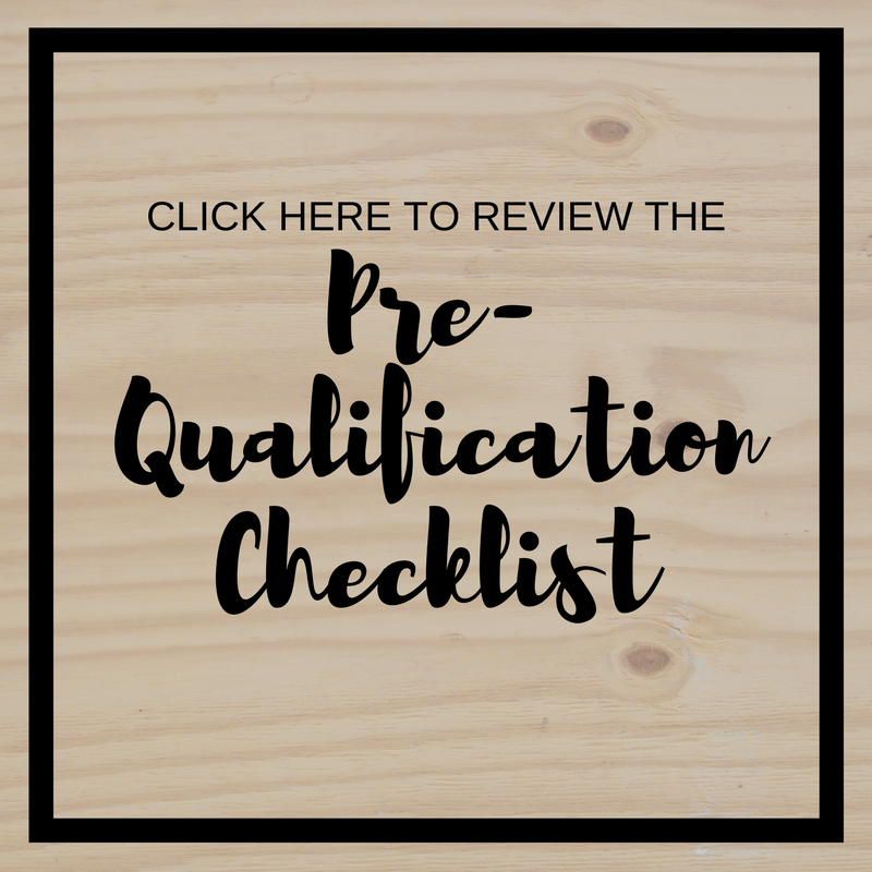 Pre-Qualification Checklist