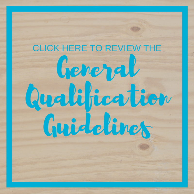 General Qualification Guidelines