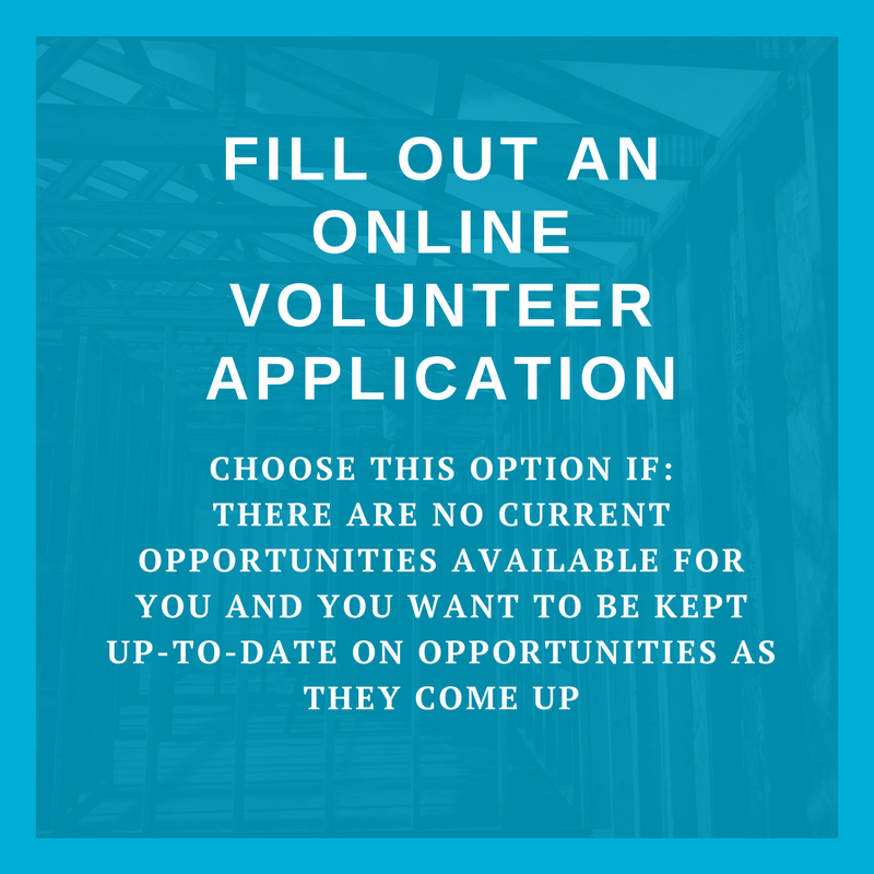 Fill out an online volunteer application