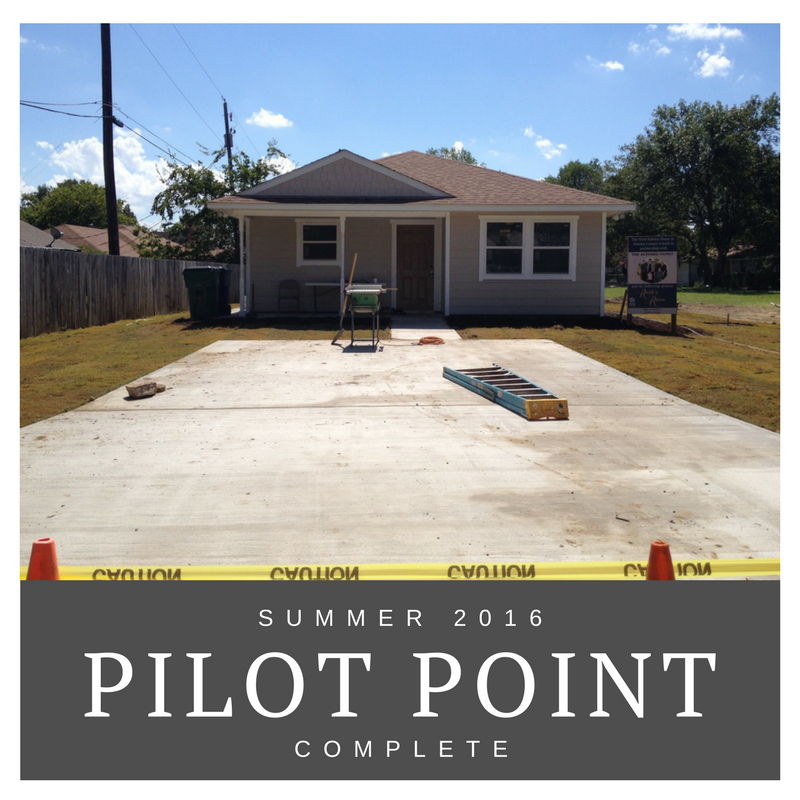 Summer 2016 Pilot Point complete build pictures