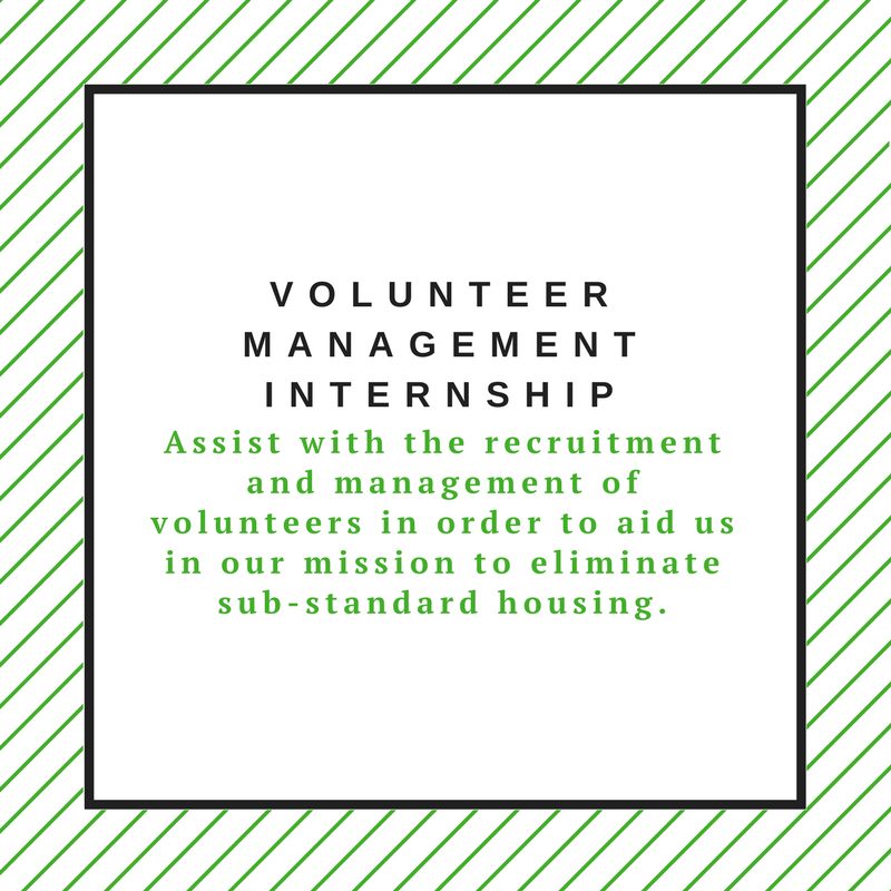 Volunteer Management Internship
