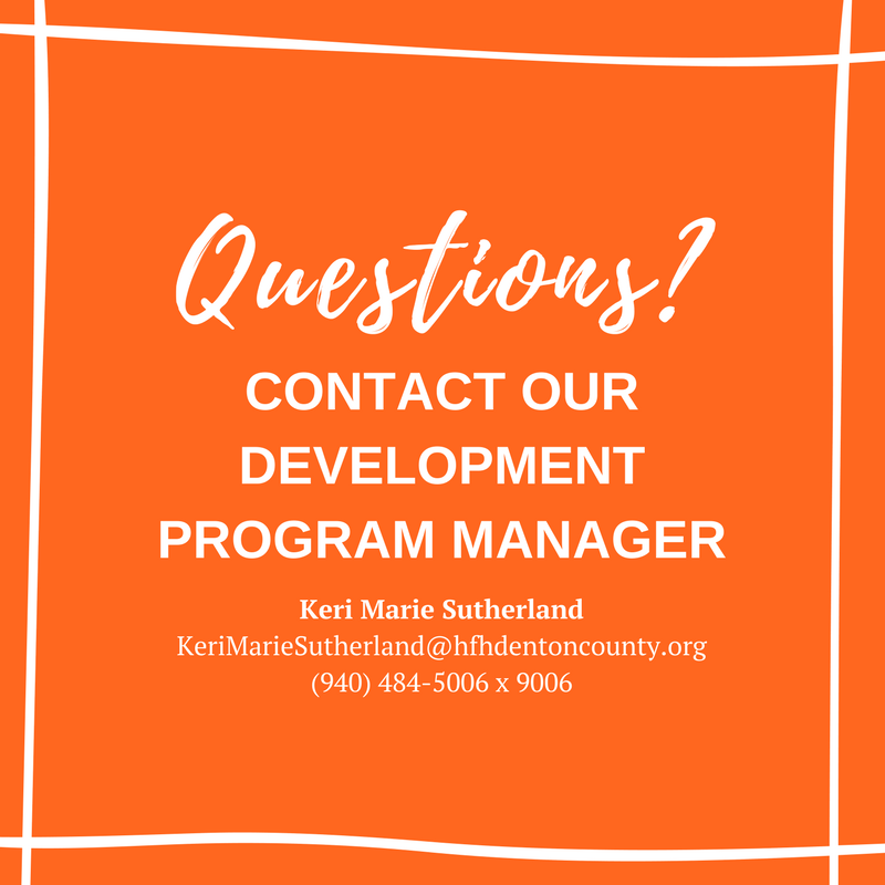 Contact our development program manager if you have any questions