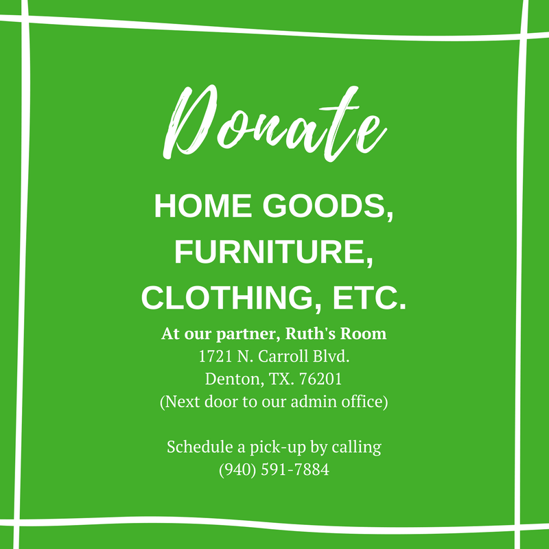 Donate home goods, furniture, clothing, etc.