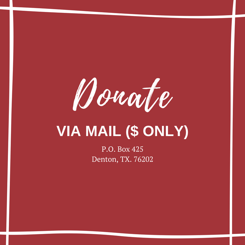 Donate money via mail