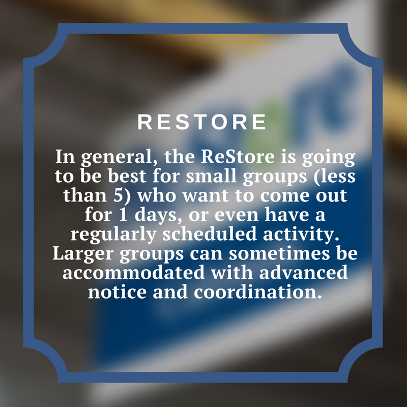 Group Volunteer Restore