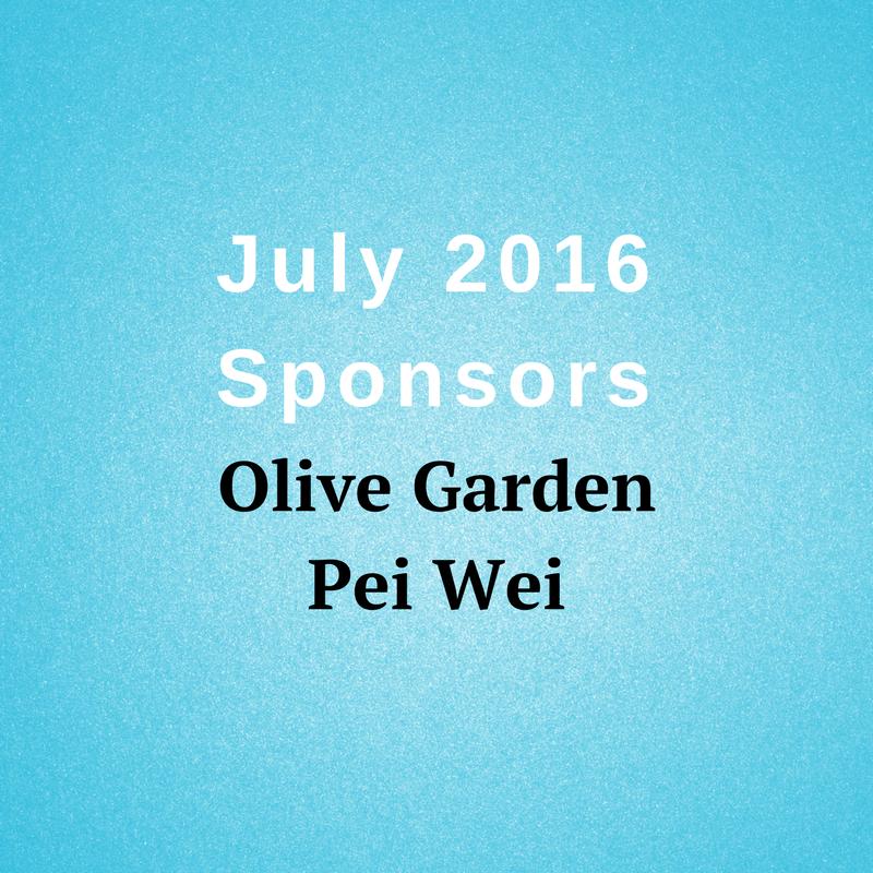 July 2016 Sponsors Olive Garden Pei Wei