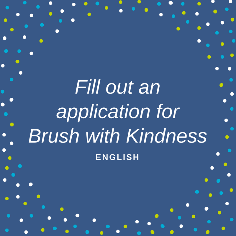 Application for Brush with Kindness in english to see if your home qualifies