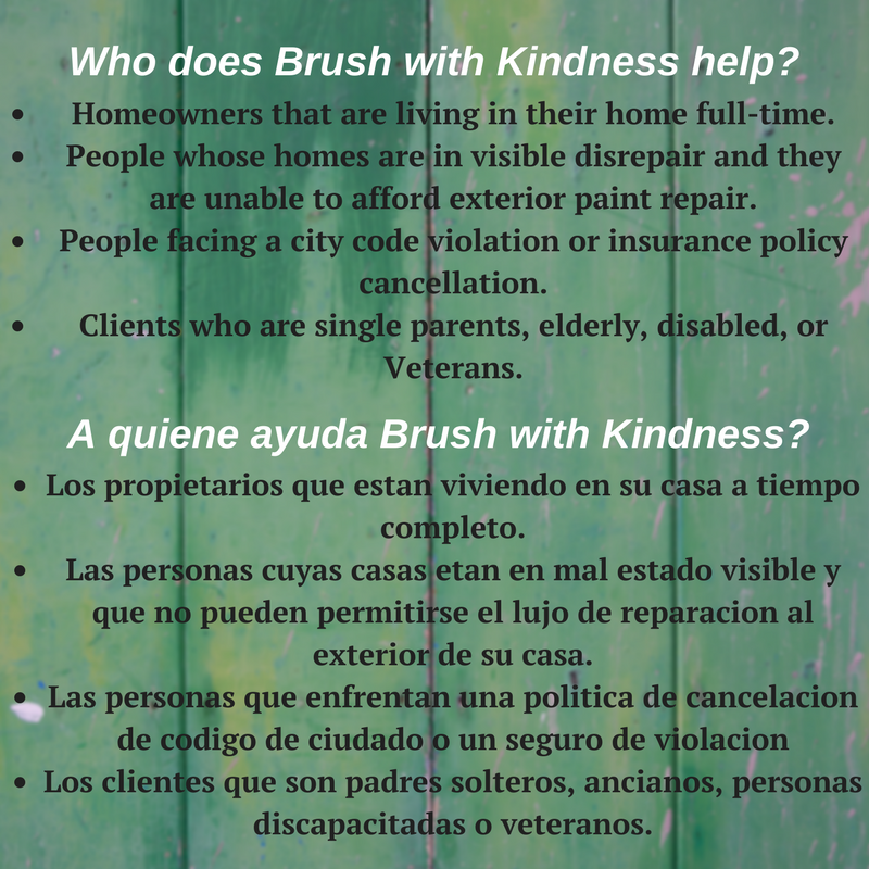 Who does Brush with Kindness Help?