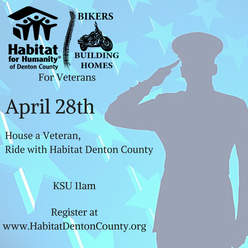 Ride to House Veterans! - Habitat Denton County is hosting our 3rd Annual