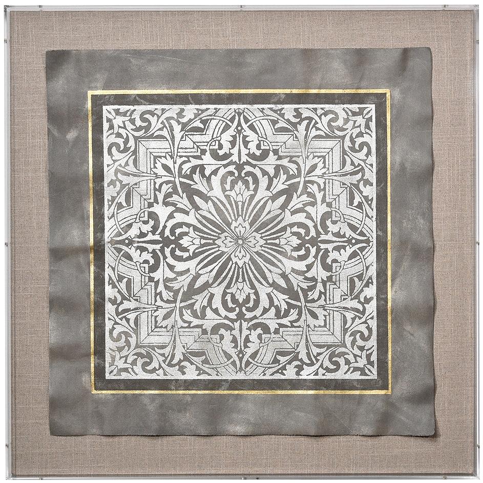 Arabesque 1:Slate:Silver on Natural.jpg