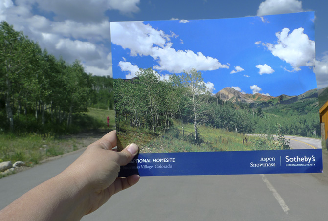 Yumi Janairo Roth,  Exceptional Homesite , 2012. Archival inkjet print, Snowmass Village, CO