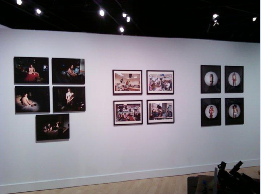 """Untitled"" series pictured on the left."