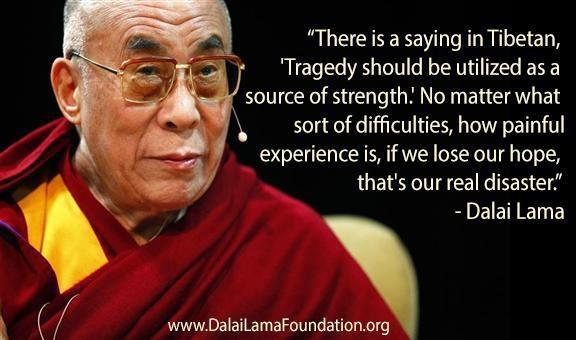 dalai lama on tragedy