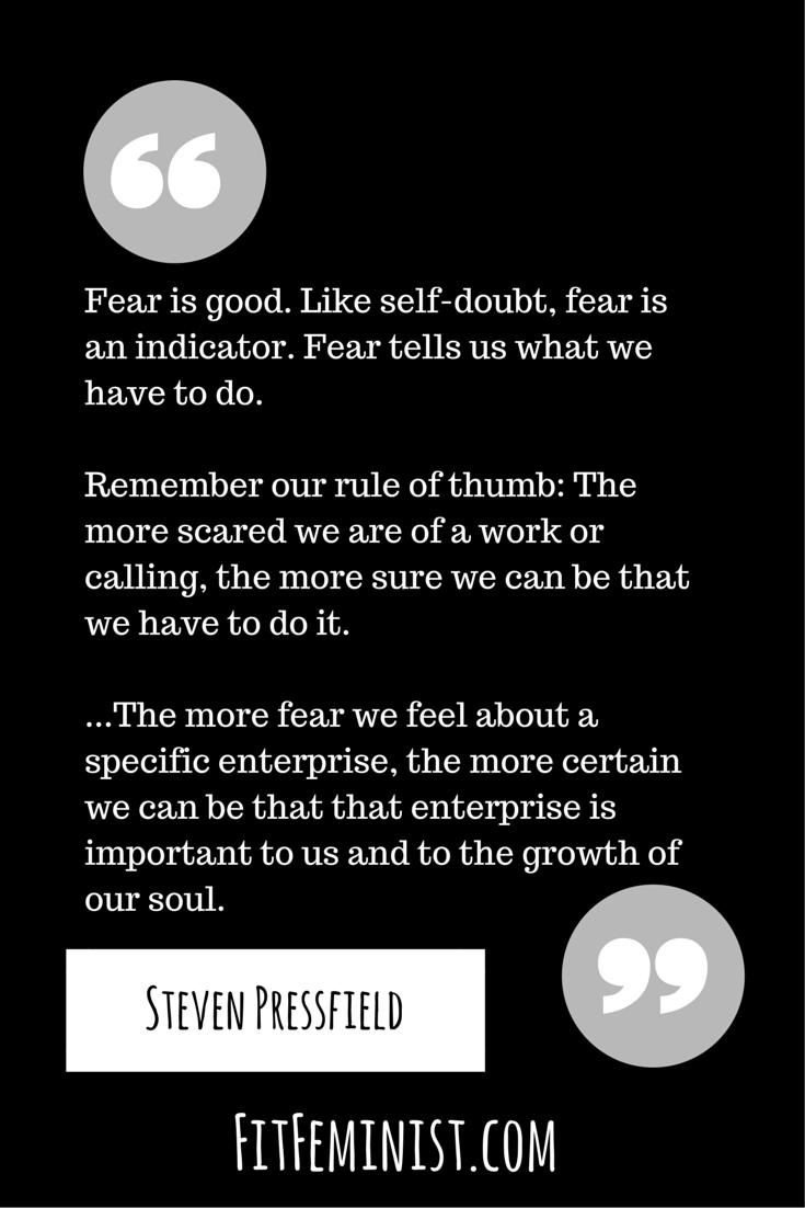 Fear is Good by Steven Pressfield