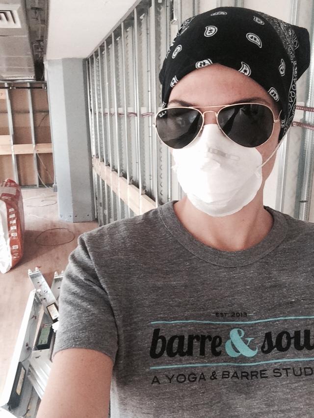 andrea construction selfie