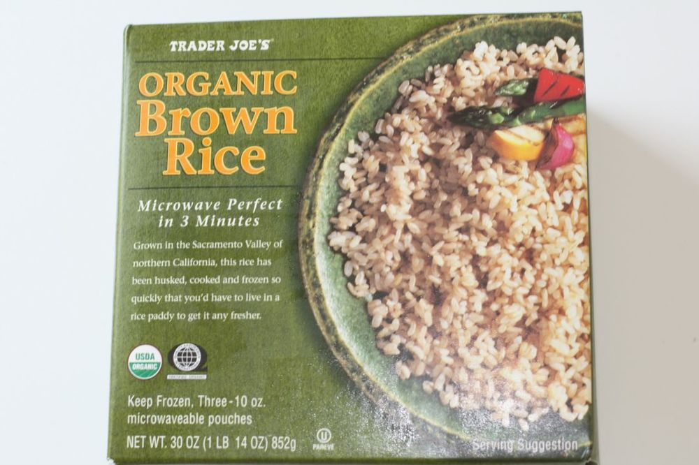trader joes organic frozen brown rice