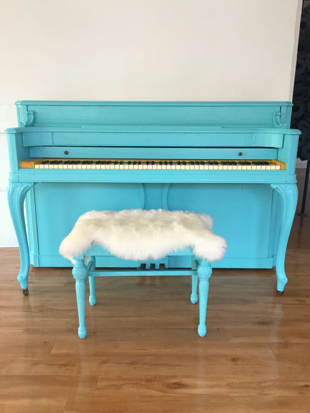turquoise piano