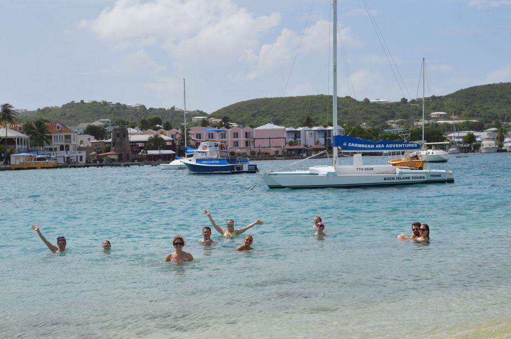 swimming in St. Croix