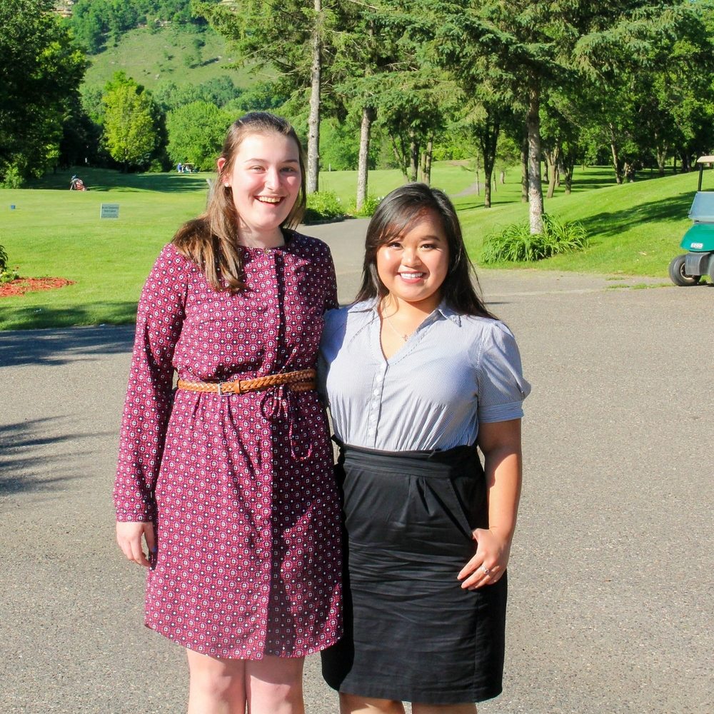 Laura Garlow (left) and Mai Xee Vang (right) two winners of Penny scholarships