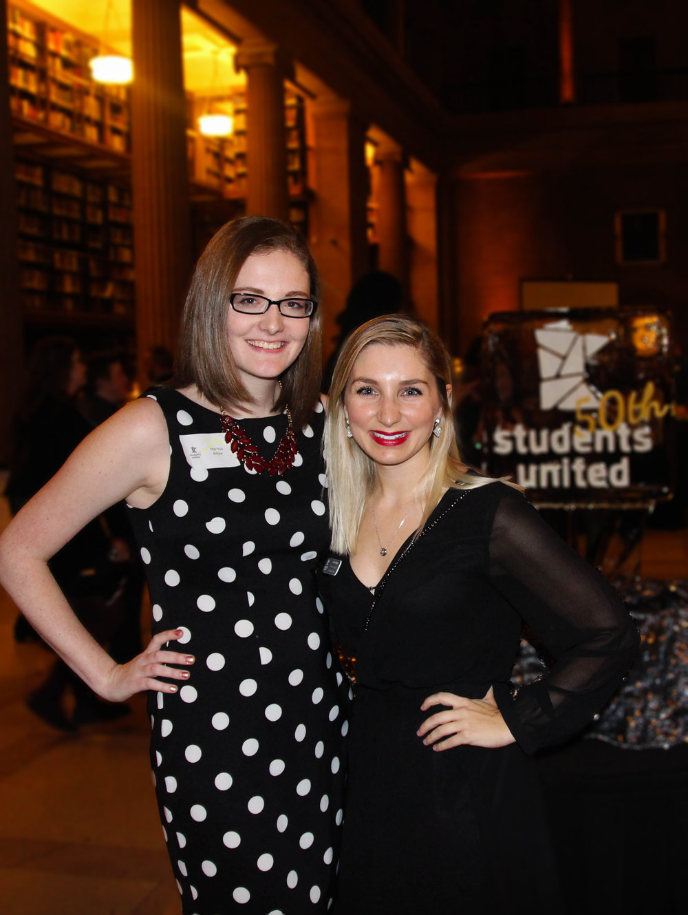 Carlee [right] & her former intern Marissa [left] at 50th Gala.