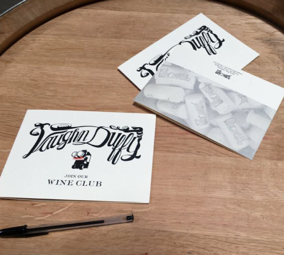 WINE CLUB BROCHURES FOR VAUGHN DUTCH WINERY