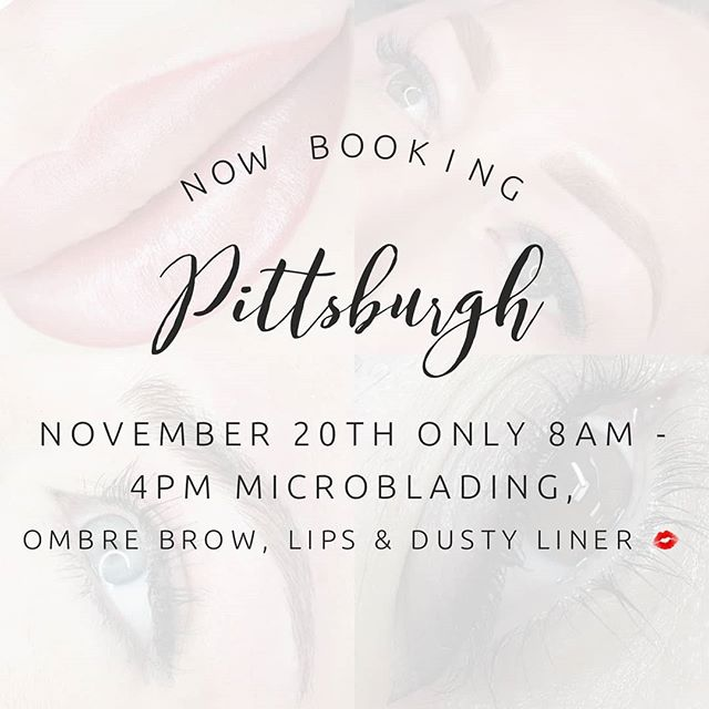 Now Booking Pittsburgh PA clients November 20th only 8am - 4pm.  First come first serve on appointments.  I am offering all treatments microblading,  ombre powder brow, lips & liner  #bluerosebeauties #harmonymicroblade #microbladingbyGlamd #permanentmakeup #pmu #microblading #archaddicts #brows #browsonfleek #3dbrows #microbladingeyebrows #eyebrows #wakeupandmakeup #harmonymb #browsonpoint #PittsburghBrows #microblading #microbladingeyebrows #microbladingbrows #permanentmakeup #microbladingartist #micropigmentation #hairstrokes #microbladingacademy #microbladingtraining #pmu #3dbrows #browsonfleek #eyebrowtattoo #semipermanentmakeup #powderbrow #eyebrowsonfleek