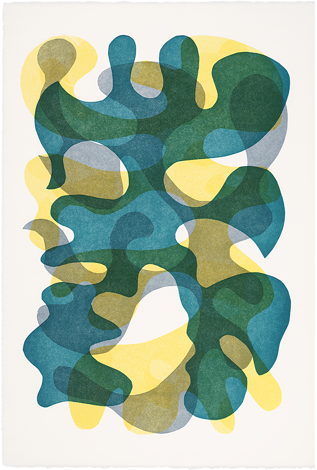 monoprint, 15 x 22 inches