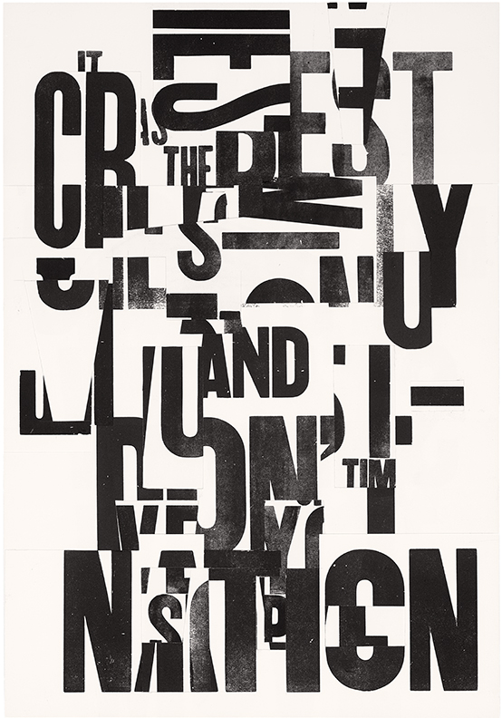 The Nation Cries, 15 x 22 in, 2015