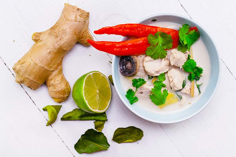 THAI COCONUT GINGER SOUP