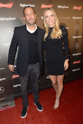 David Spencer and Caroline Wozniacki at Rolling Stone Live: Houston