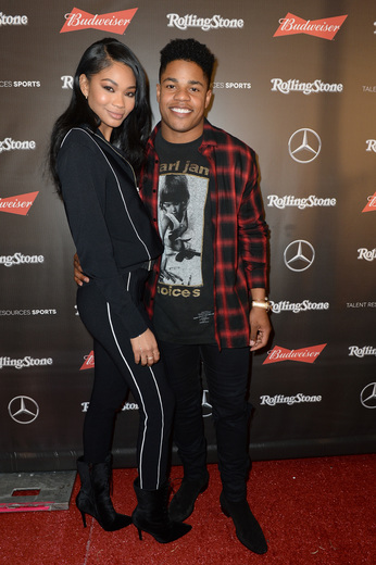 Chanel Iman and Sterling Shepard at Rolling Stone Live: Houston