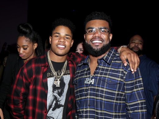 Sterling Shepard and Ezekiel Elliot at Rolling Stone Live: Houston