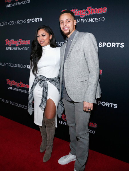 NBA star Steph Curry and wife Ayesha Curry attend Rolling Stone LIVE San Francisco party presented by Talent Resources Sports
