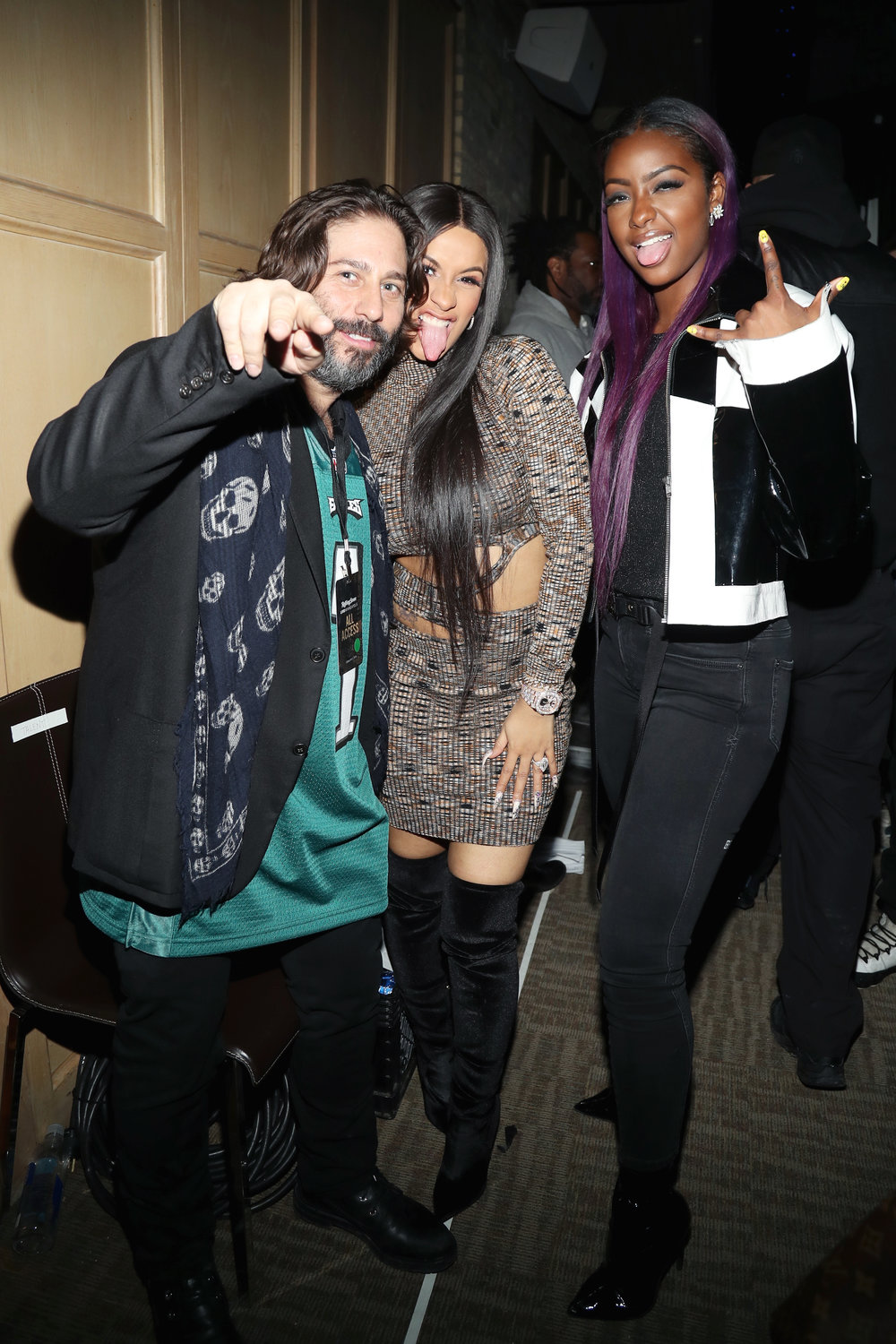 Michael Heller, Cardi B and Justine Skye