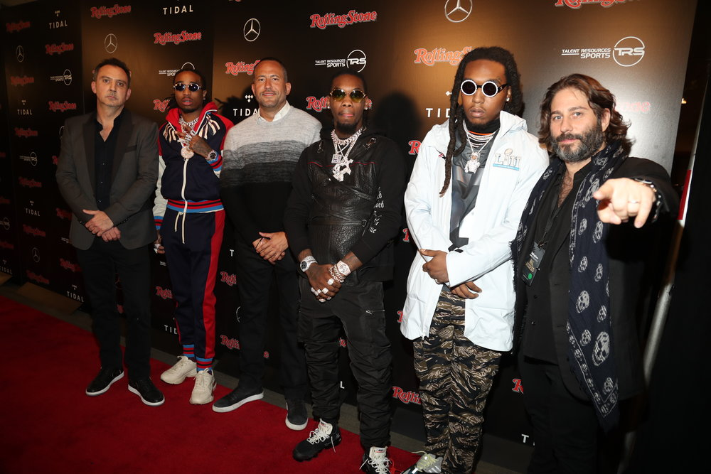 MIGOS members with David Spencer & Michael Heller