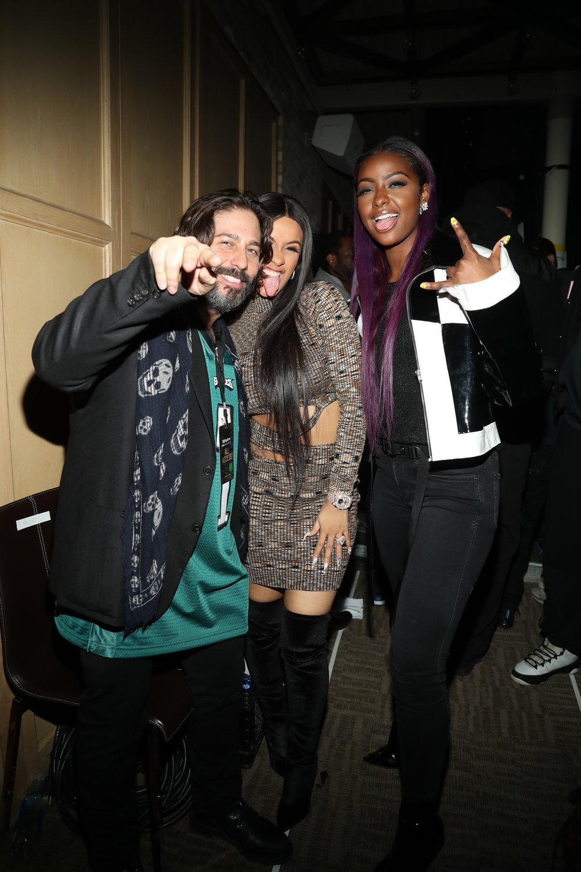 Michael Heller with Cardi B & Justine Skye