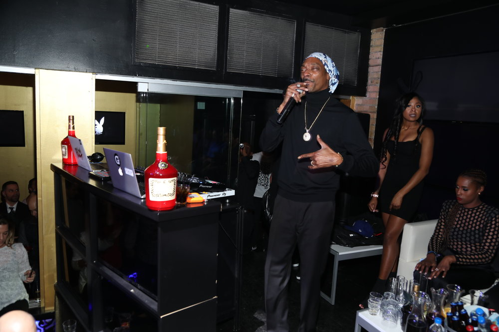 Snoop Dogg performs at Playboy's Big Game Party