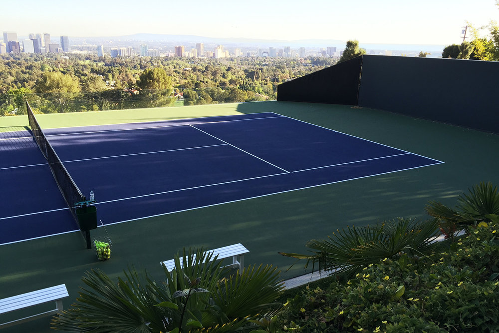 Tennis Court at Sheats-Golstein Residence