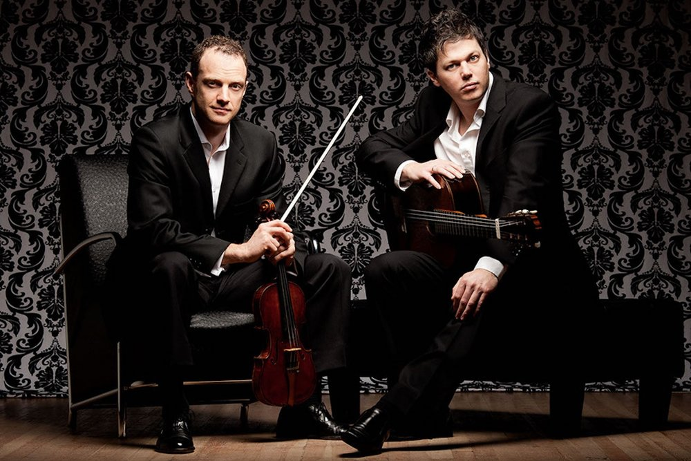 DUO RENDEZVOUS - Jasper Wood, Violin & Daniel Bolshoy, GuitarJanuary 27, 2019 • 3 pmThese two leading artists are united by their passion for performance and love of virtuosic and intimate music. From the brothels of Buenos Aires to the cafés of Paris: music that comes from everywhere and goes directly into the heart.