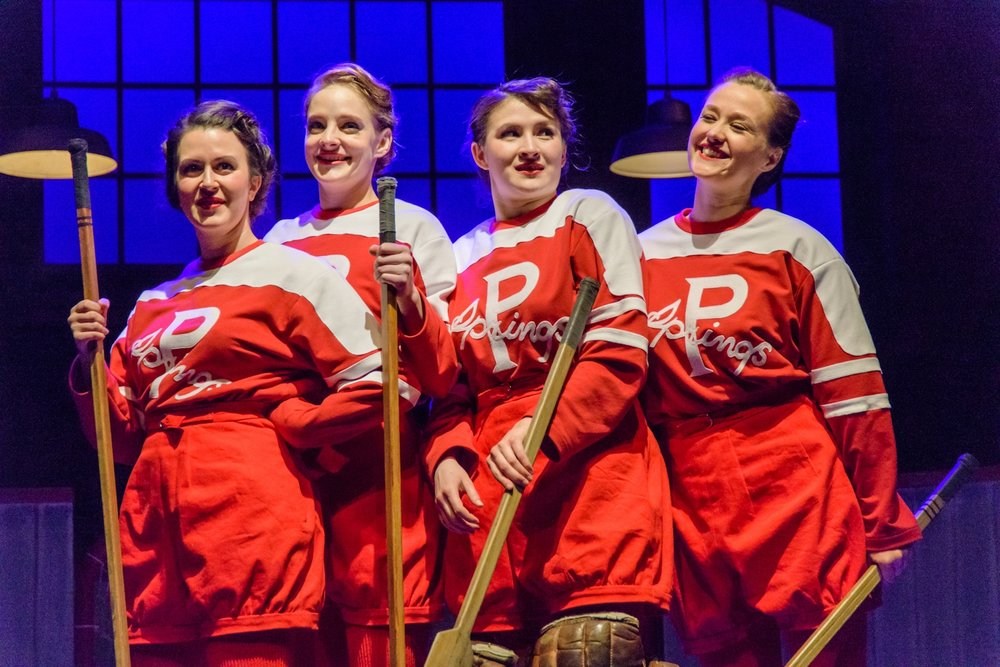 GLORY - By Tracey PowerDirected by James MacDonaldMarch 29, 2019 ● 7:30pmMarch 30, 2019 ● 3:00pmGrosvenor TheatreIn 1933, four friends set out to prove to Canada that hockey isn't just a sport for men. Told through music and dance inspired by the jazz age, GLORY is an uplifting hockey story that proves a woman's place is on home ice.A Western Canada Theatre Production