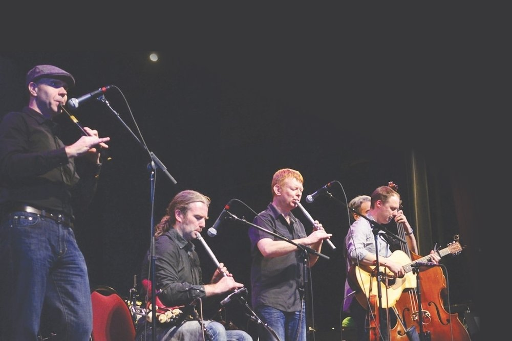LÚNaSA - March 26, 2019 ● 7:30pmLúnasa is internationally acknowledged as the finest traditional Irish instrumental band of recent times and renowned for their stunning shows honed by superb musicianship. Band members include Kevin Crawford (flutes, low whistles and tin whistles), Trevor Hutchinson (double bass), Ed Boyd (guitar), Seán Smyth (fiddle and low whistle) and Cillian Vallely (uilleann pipes and low whistles).