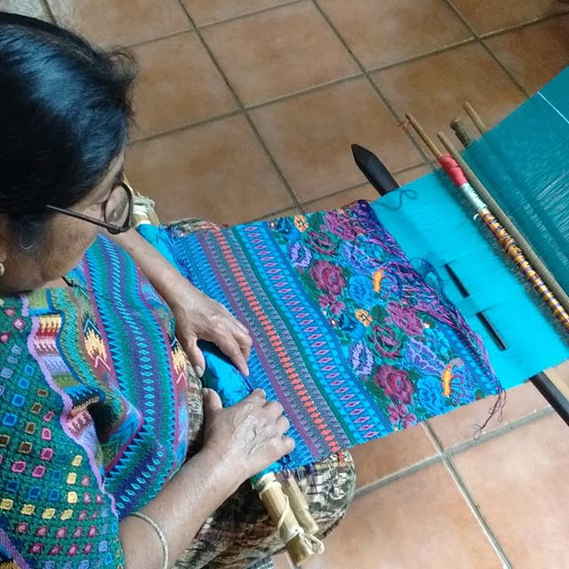 Took a chicken bus and went to San Antonio Aguas Calientes where the weaving is famous for. There are so many beautiful textiles in Guatemala!