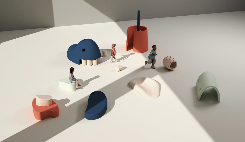 The Phyo is a set of indoor adventure playground design for early physical development of pre-k children.