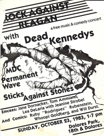 Show flyer for a Rock Against Reagan show. Photo Courtesy Of: Cranky Old Mission Guy, via Flickr.
