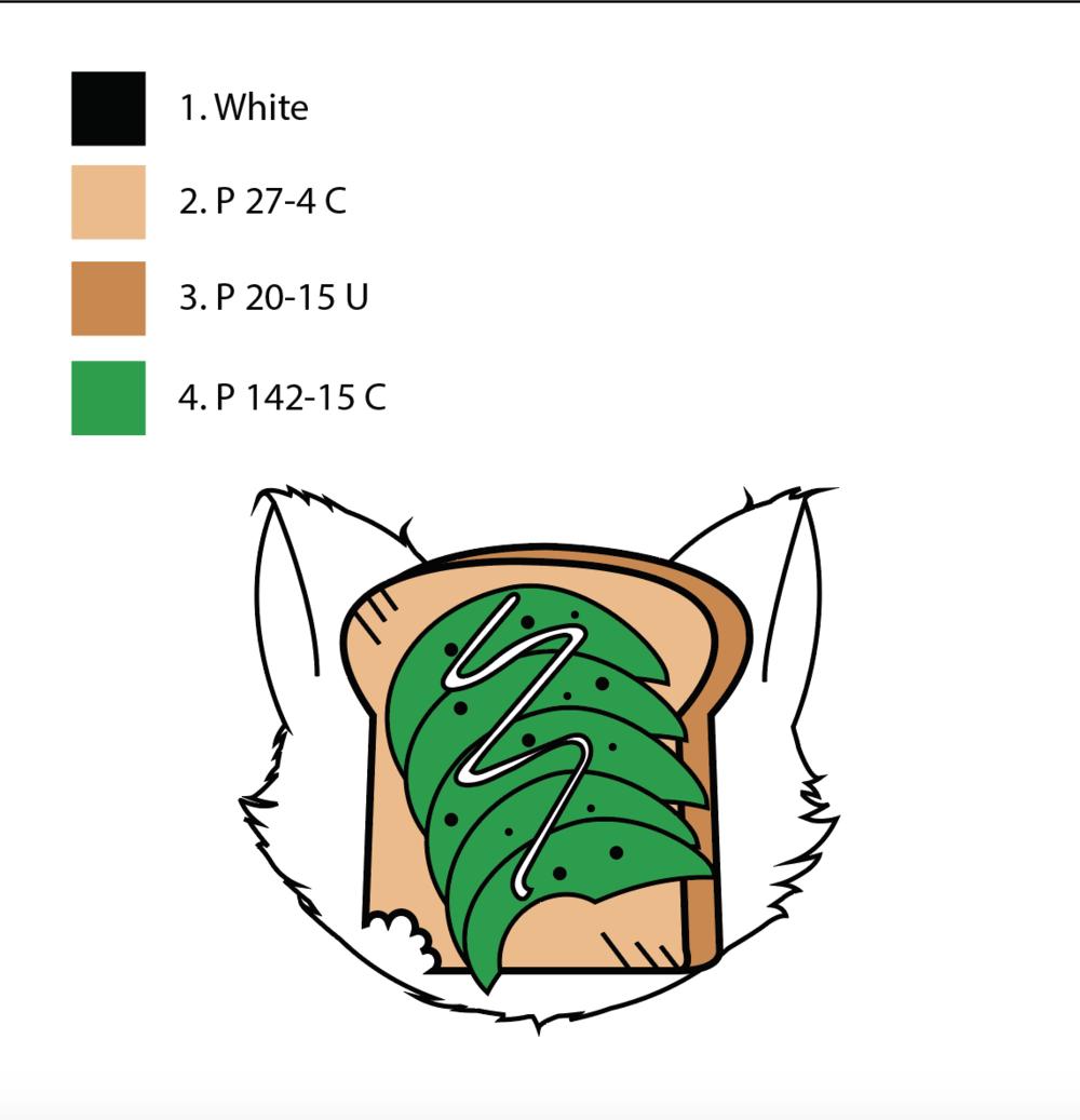 Avo-Gato Toast Pantone color reference.